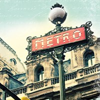 Paris Metro Letter Framed Print