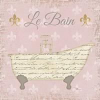 Vintage Bath VI Fleur Pink Fine Art Print