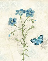 Booked Blue III Crop Fine Art Print