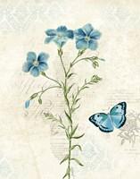 Booked Blue III Crop Framed Print