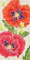 Sunshine Poppies Panel I Fine Art Print