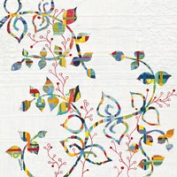 Rainbow Vines with Berries Fine Art Print