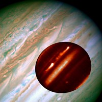 Hubble/IRTF Composite Image of Jupiter Storms Fine Art Print