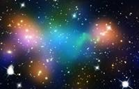 Galaxy Cluster Abell 520 (HST-CFHT-CXO Composite) Fine Art Print