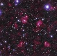 Dark Matter Distribution in Supercluster Abell 901/902 Fine Art Print
