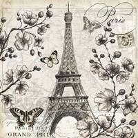 Paris in Bloom I Framed Print