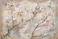 Cherry Blossoms Taupe Landscape Fine Art Print