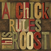 Printers Block Rules This Roost I Framed Print
