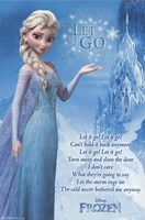 Frozen - Lyrics Wall Poster