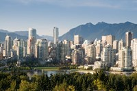 Skyline of Vancouver, British Columbia, Canada Fine Art Print