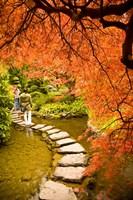 Japanese Garden, Butchart Gardens, Victoria, BC Fine Art Print