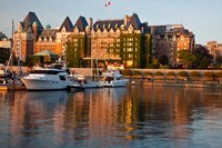 British Columbia, Victoria, Empress Hotel, Harbor Fine Art Print