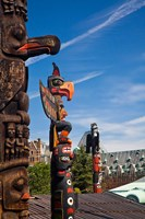 British Columbia, Victoria, Native American Totems Fine Art Print