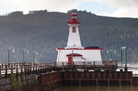 Lighthouse, Port Alberni, Harbor Quay Marina, Vancouver Island, British Columbia, Canada Fine Art Print