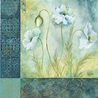 White Poppy Garden I Framed Print