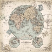 World Hemispheres I Fine Art Print
