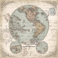 World Hemispheres II Fine Art Print