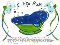 A Hip Bath Fine Art Print