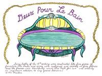 Deux Pour Le Bain Fine Art Print