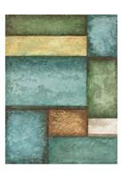 Rectangle  Blue Velvet I Framed Print