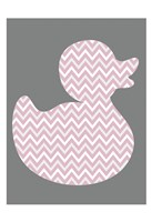 Pink Duck 1 Framed Print
