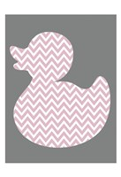 Pink Duck Mate 2 Framed Print