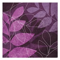 Purple Leaves Fine Art Print