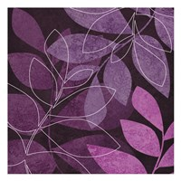 Purple Leaves 2 Framed Print