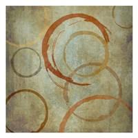Vintage Circles Framed Print