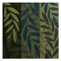 Green Blue 3 Panel Fine Art Print