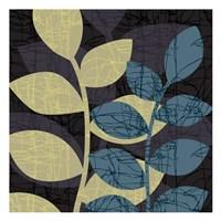 Scribble Leaves Framed Print