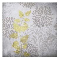 Warm Gray Flowers 5 Framed Print