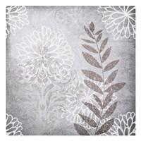 Warm Grey Flowers 6 Fine Art Print