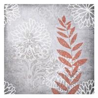 Warm Gray Flowers 4 Framed Print