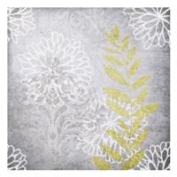 Warm Gray Flowers 3 Framed Print