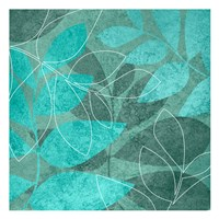 Seafoam Leaves 1 Fine Art Print
