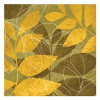 Yellow Brown Leaves 1 Framed Print