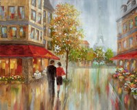 Romantic Promenade II Framed Print