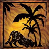 Safari Silhouette I Framed Print