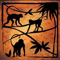 Safari Silhouette II Framed Print