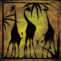 Safari Silhouette III Framed Print