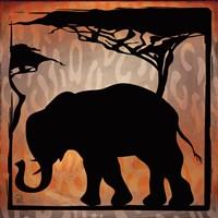 Safari Silhouette IV Framed Print