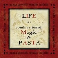 Pasta Sayings I Framed Print