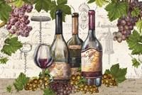 Botanical Wine Landscape Framed Print