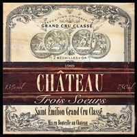 Grand Vin Wine Label II Fine Art Print
