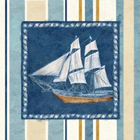 Nautical Stripe II Framed Print