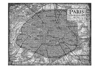 Environs Paris Gray Fine Art Print