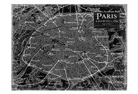 Environs Paris Black 2 Fine Art Print
