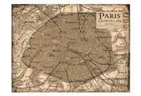 Environs Paris Beige Fine Art Print