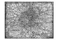 Environs London Gray Fine Art Print